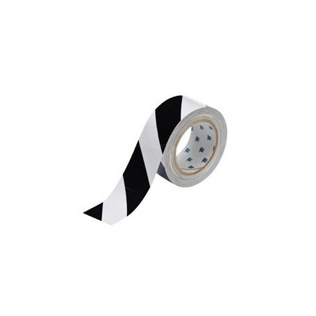 Floor Marking Tape-White/Black