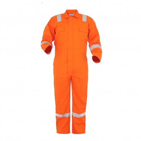 Club 21 Workwear Coverall Cotton Coverall  Basic Orange 245 Gsm Coverall/Boiler Suit For Industrial Use