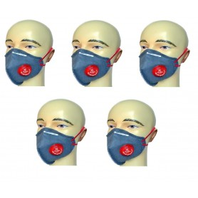 Toolscentre Weldo Guard Industrial Exhale Safety Mask, Grey, Pack of 5