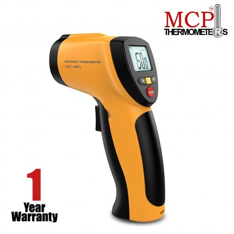MCP Non-contact Digital Laser Infrared Thermometer with Back Light LCD Display