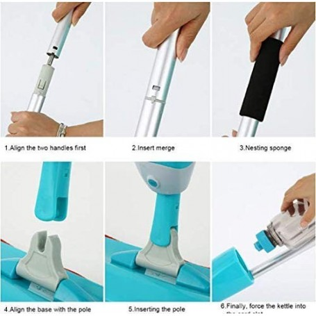 Maitry with Device Multifunctional Microfiber Floor Cleaning Healthy Spray Mop with Removable Washable Cleaning