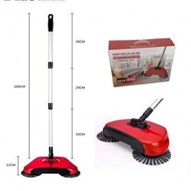 HUNT POUNI's Mop Auto Spin Hand Push 360 Rotary Sweepers Dustpan Household Cleaning Tools