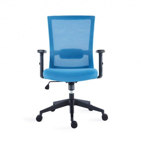 Iron Mesh Office Chair with Flip-up Armrest, Lumbar Support