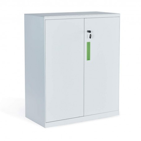 Sunon Steel Box Full Assembly Storage Cabinet with Adjustable 3 Shelves (White)