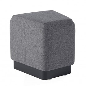 Sunon Pouf Ottoman StoolOttoman Foot Rest With Padded Cushion And Trapezoid Shape Wood