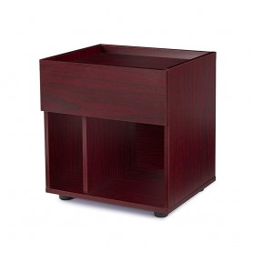 Sunon Night Stand 1-Drawer Storage Shelf Nightstand For Bedroom Living Room Bedside (Mahognay)