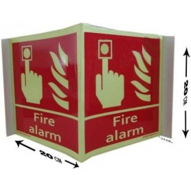 FIRE ALARM Emergency Sign  (Reflective Sign)