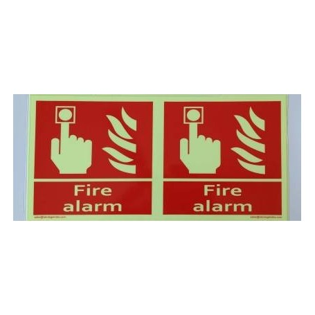 Tatulege FIRE ALARM Emergency Sign  (Reflective Sign)