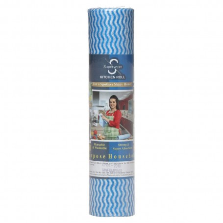 Fabric 30 X 25 cm Kitchen Tissue/Towel Tissue Roll Reusable & Washable (Multi-Purpose Household Sheets) - 3 Rolls