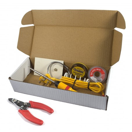 ElectroBot 6 in 1 Electric Soldering Iron Stand Tool Wire Stripper Kit