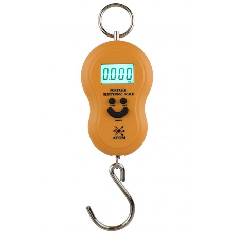 Atom A301 Portable Electronic Luggage Scale, Black, 50kg