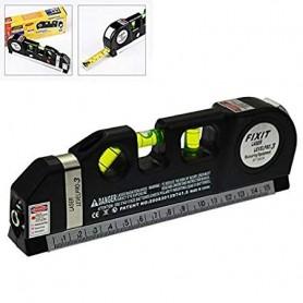 Laser Line Pro Spirit Level 2.5 m Tape and 1/2 ft Ruler for Multiple Purposes (Black)