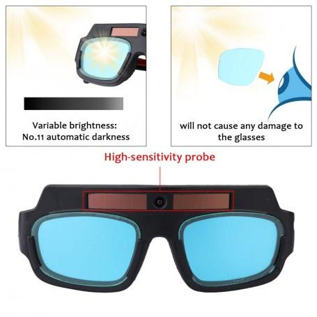 Walmeck Solar Auto Darkening Welding Safety Protective Mask Helmet Eyes Glasses
