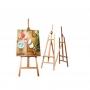 Easel Stand made of Wooden Panels Adjustable